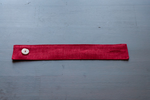 Linen classical red napkin ring