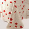 Linen poppy pattern on grey
