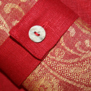 Linen classic red napkin ring