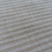 100% Linen or flax. Natural and White pinstripe pattern. Handmade item.