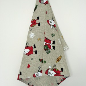 Linen tea towel in Santa Claus
