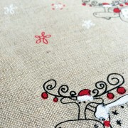 Linen tea towel in Christmas Reindeer