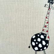 Linen tea towel in Giraffe pattern
