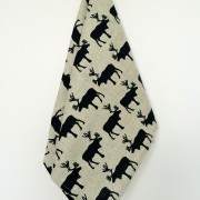 Linen tea towel in Deer pattern