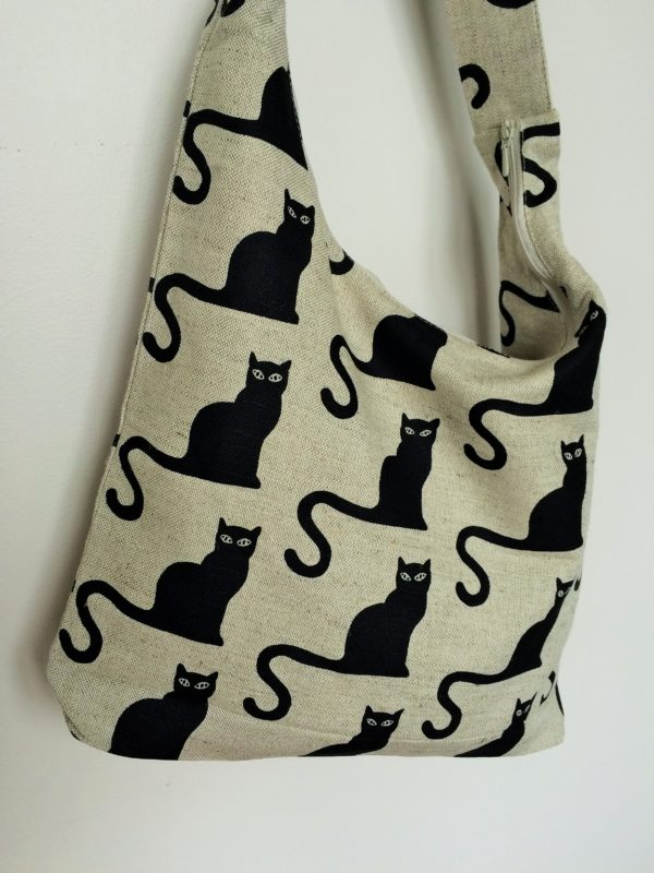"Linen handmade bag ""Cat Ghato"""