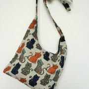 "Linen handmade bag ""Happy Cats"""