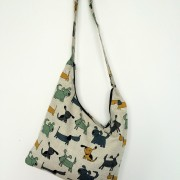"Linen handmade bag ""Happy Dogs"""