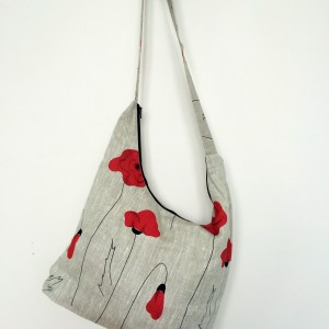 "Linen handmade bag ""Poppy"""