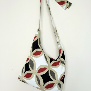 "Linen handmade bag ""Shapes"""