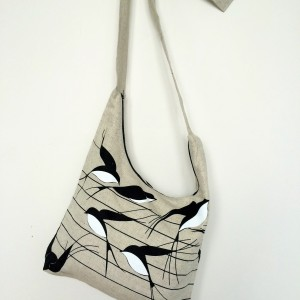"Linen handmade bag ""Swallow"""