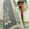 Wool throw. 100% wool blanket. Sheep pattern.