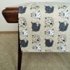 Pure 100% linen table runner. Handmade table linen. Sheep pattern.