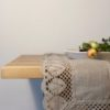 Pure 100% linen table runner. Handmade table linen. Beige color table runner with lace.