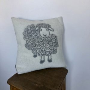 "Wool pillow case in ""Sheep"" pattern"