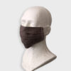 Dark Natural color linen reusable washable mask with straps.